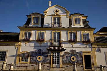 Facade of Bodega Jose Maria Fonseca, Vila Nogueira de Azeitao, Setúbal, Portugal, Europe