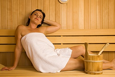 Woman in the sauna