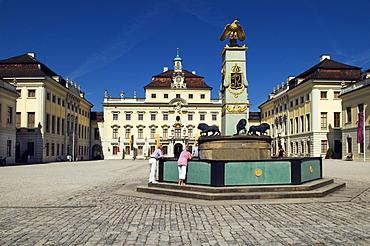 Germany's largest Baroque palace, Ludwigsburg Palace, built from 1704-33, Ludwigsburg, Baden-Wuerttemberg, Germany, Europe