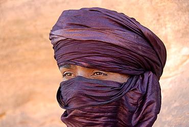 Portrait Tuareg wrapped in a turban Acacus Libya
