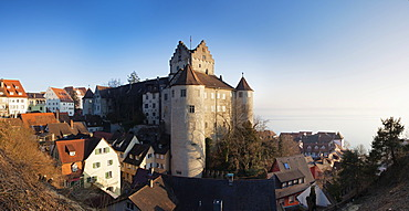 Panoramic view of Meersburg castle, Meersburg, Baden-Wuerttemberg, Germany, Europe