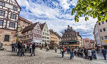 Tiergaertnertorplatz square, Nuremberg, Middle Franconia, Bavaria, Germany, Europe