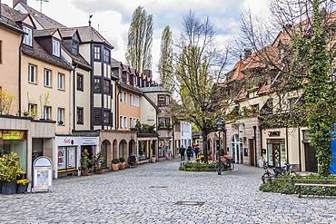 Troedelmarkt square, Nuremberg, Middle Franconia, Bavaria, Germany, Europe