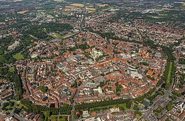 Aerial view, Muenster, Muenster region, North Rhine-Westphalia, Germany, Europe
