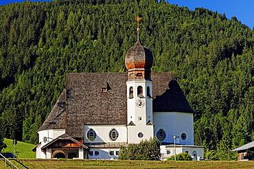 Church in Oberau near Berchtesgaden, Berchtesgadener Land, Bavaria, Germany, Europe, PublicGround