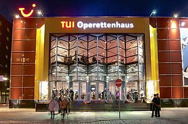 Tui-Operettenhaus concert hall, Spielbudenplatz square in St. Pauli, Hamburg, Germany, Europe