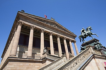 Alte Nationalgalerie or Old National Gallery, Museum island, UNESCO World Heritage Site, Mitte district, Berlin, Germany, Europe