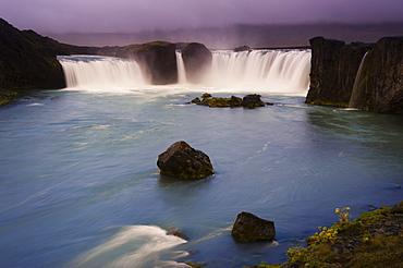 Godafoss, Godafoss Waterfall on the Skjalfandafljot River, ring road, Nordurland, Nordurland eystra, North-East Iceland, Iceland, Europe