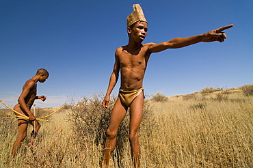 San, Bushmen, near Andriesvale, Kalahari Desert, Northern Cape, South Africa, Africa