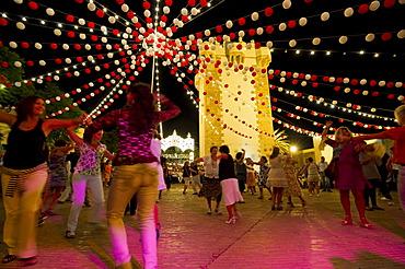 Feria funfair, Conil de la Frontera, Costa del Luz, Andalucia, Spain, Europe
