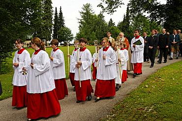 Kiliansfest, Festival of St. Kilian, Bad Heilbrunn, Loisachtal, Toelz region, Upper Bavaria, Germany, Europe