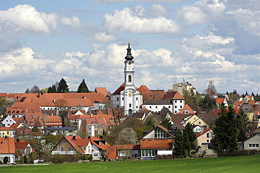 Altomuenster with the parish and convent church of St Alto and St Birgitta, Upper Bavaria, Bavaria, Germany, Europe