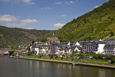 Cond district on the Moselle river, Cochem, Mosellele, Rhineland-Palatinate, Germany, Europe, PublicGround