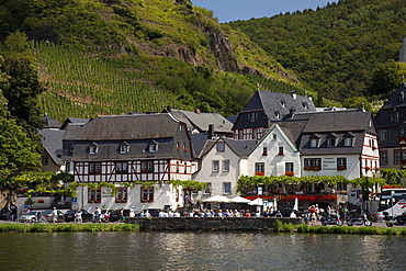 View of the town of Beilstein, Moselle river, Rhineland-Palatinate, Germany, Europe, PublicGround