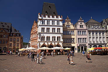Main market square with Steipe, gothic building, Trier, Rhineland-Palatinate, Germany, Europe, PublicGround