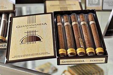 Guantanamera, original Cuban cigars, tourist store, Parque Natural Ciénaga de Zapata, Zapata Peninsula, Cuba, Central America, America