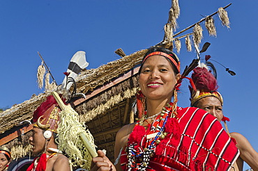 Woman of the Phom tribe at the annual Hornbill Festival in Kohima, India, Asia