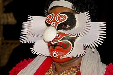 The Kathakali character Bali, Perattil, Kerala, India, Asia