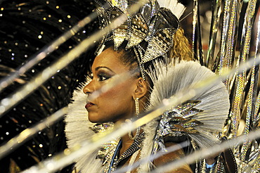 Dancer at the Carnaval in Rio de Janeiro 2010, Brazil, South America