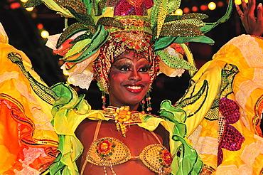 Dancer at the Tropicana Club, cabaret, Havana, Cuba, Caribbean