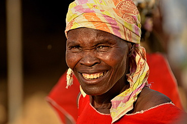 One of the 50 wives of Mogozo Daouka, 98, chief of the village of Oudjilla near Mora, Cameroon, Central Africa, Africa