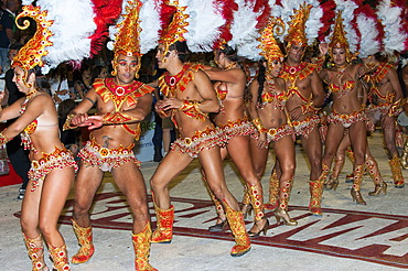 Dancers at the Gualeguaychu Carnival, Entre Rios Province, Argentina, Latin America