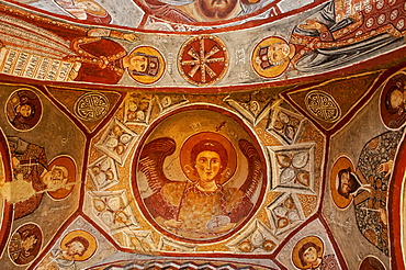 Apple Church or Elmali Kilise, interior, Goereme National Park, Unesco World Heritage Site, Cappadocia, Turkey