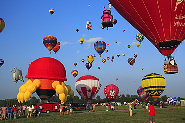 Ballooning Festival at Saint-Jean-sur-Richelieu, Quebec, Canada