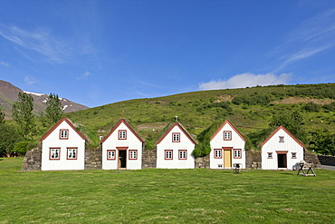 Old peat farm of Lauf√°s, museum, Eyjafjoer√∞ur, Iceland, Europe