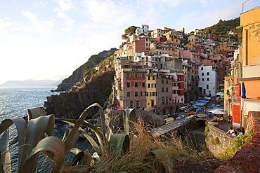 Evening in Riomaggiore, La Spezia, Cinque Terre, Liguria, Italy, Europe