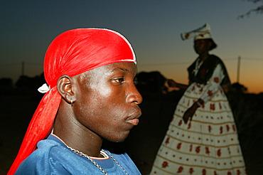 Portrait of a man, Sehitwa, Botswana, Africa