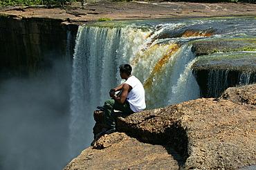 Visitor, Kaieteur Waterfalls, Guyana, South America