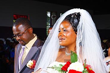 Bride and groom, wedding, Bamenda, Cameroon, Africa