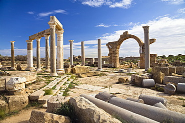 The Market, Leptis Magna, Libya, North Africa, Africa