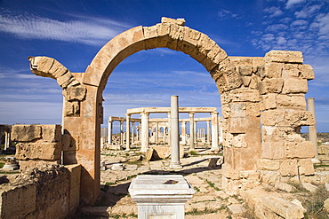 The Market, Leptis Magna, Libya, North Africa, Africa