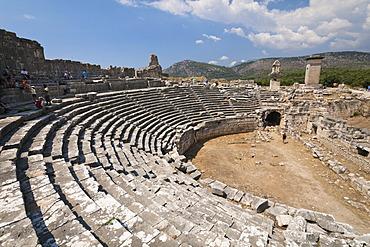 Roman Theatre, Xanthos, UNESCO World Heritage Site, Lycia, Turkey, Europe, Asia Minor