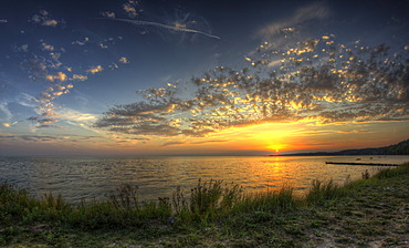 Sunset, Kamminke, Usedom, Mecklenburg-Western Pomerania, Germany, Europe