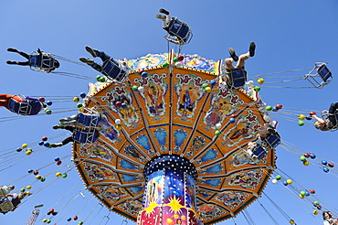 Swing carousel, chairoplane, Oktoberfest, Munich, Upper Bavaria, Bavaria, Germany, Europe