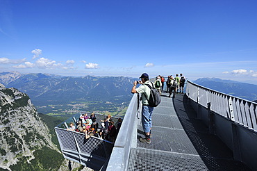 AlpspiX, viewing platform at the Alpspitze railway, hill station, Mt Alpspitze, Wetterstein range, Garmisch-Partenkirchen, Upper Bavaria, Bavaria, Germany, Europe