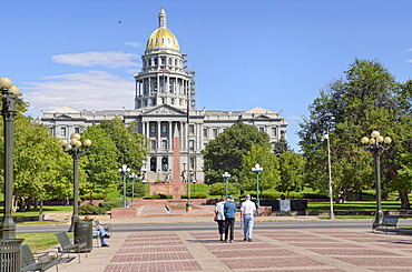 State Capitol at Civic Center Park, Denver, Colorado, USA