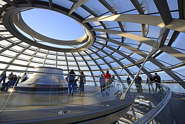 Upper open end of the dome of the Reichstag building, architect Sir Norman Foster, Berlin, Germany, Europe