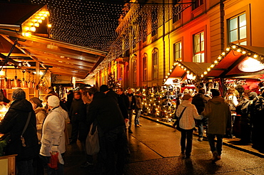 Christmas Market at Opernpalais, Bebelplatz square, Unter den Linden, Mitte, Berlin, Germany, Europe