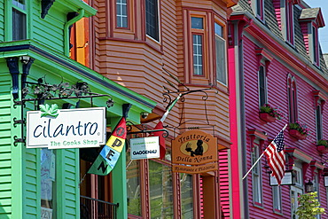 Colourful houses, Lunenburg Bump, Lunenburg, Eastern Shore, Maritime Provinces, Nova Scotia, Canada