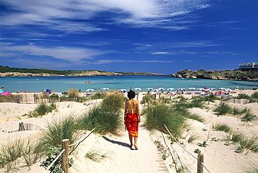 Sand dunes, Arenal de Son Saura, Minorca, Balearic Islands, Spain
