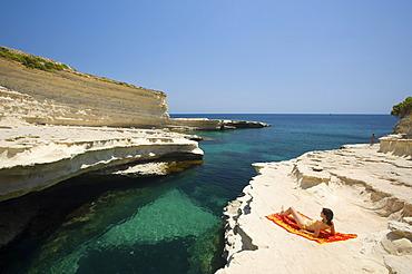 Peter\'s Pool near Marsaxlokk, Malta, Europe