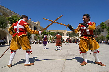 In Guardia Parade at Fort St Elmo, Valletta, Malta, Europe