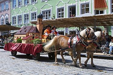 Taenzelfest festival in Kaufbeuren, Allgaeu, Bavaria, Germany, Europe