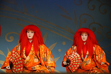 Miyako-Odori, Maiko dance by Geisha candidates in spring, Gion District, Kyoto, Japan, Asia