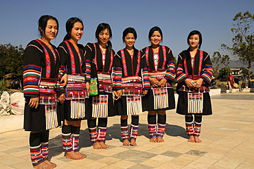 Women of an ethnic minority in traditional costume, Myanmar, Burma, Southeast Asia, Asia