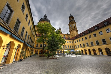 Theatinerhof, Theatiner courtyard, historic centre, Munich, Bavaria, Germany, Europe